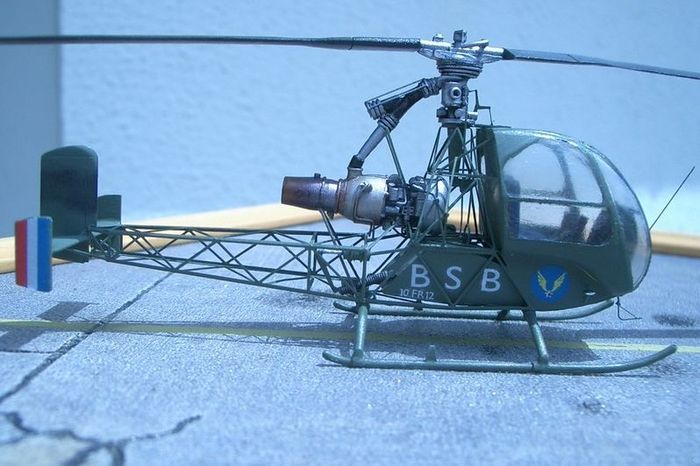 1/144 SO-1221 Djinn resin and PE kit of experimental french helicopter
