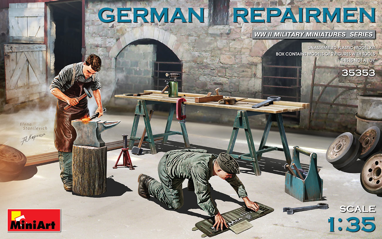 1/35 GERMAN REPAIRMEN - Miniart