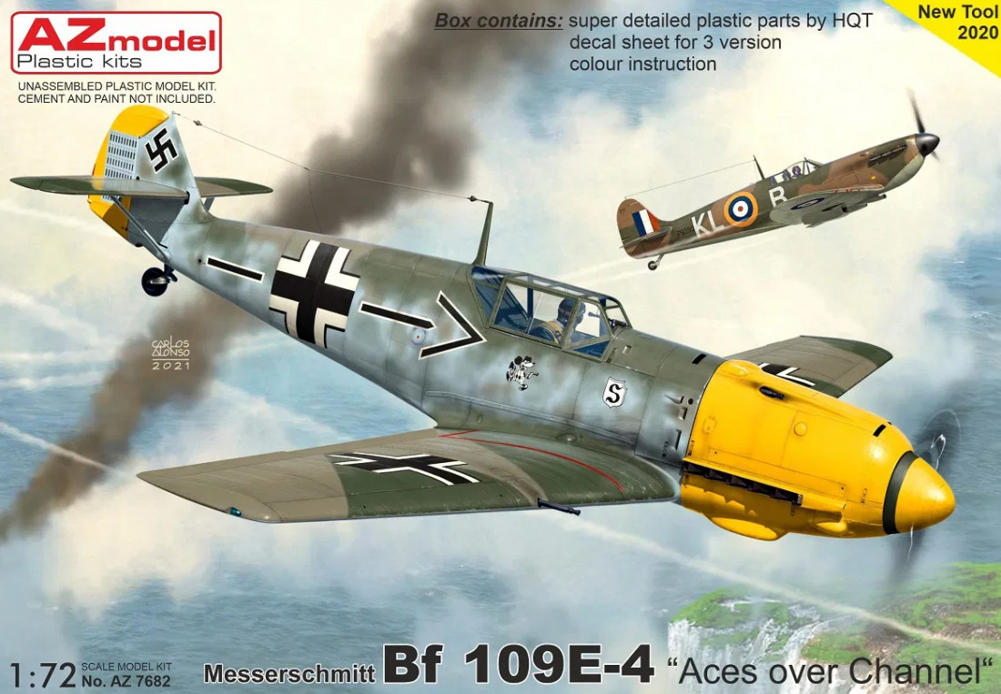 "1/72 Bf 109E-4 ""Aces over Channel"""