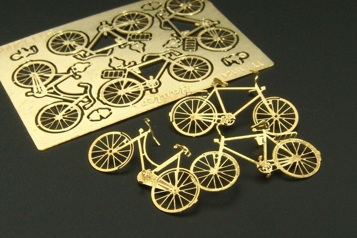1/120 Bycicles 4pcs PE kit of bicycles