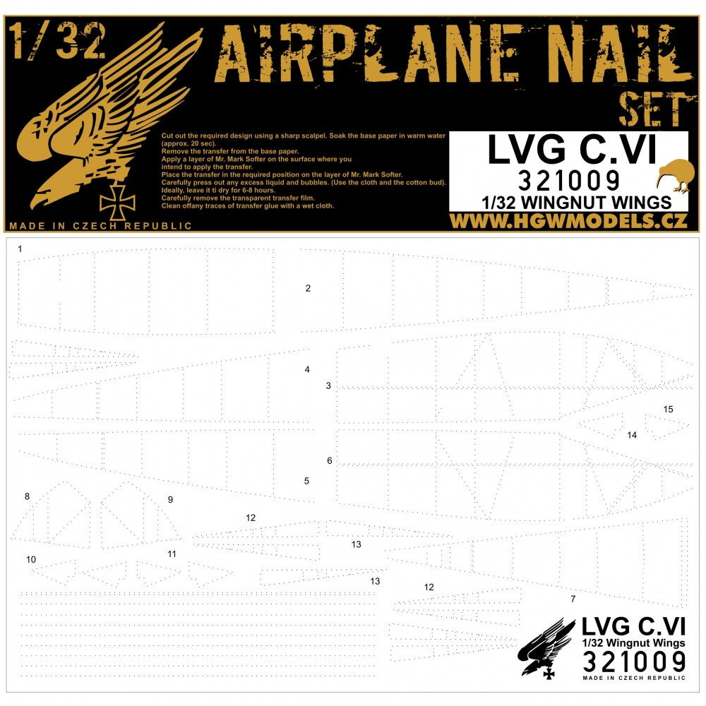 1/32 LVG C.VI - Riveting Sets - aircraft nail set Wingnut Wings
